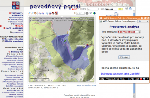 Výpočet povodí na mapách Povodňového portálu Libereckého kraje